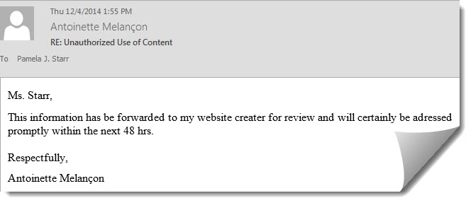 email response
